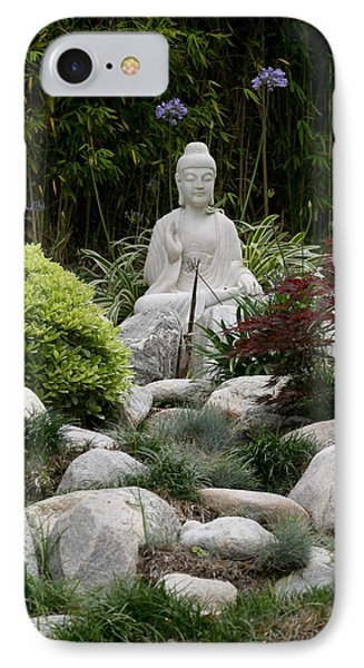 Garden Statue IPhone Case by Art Block Collections
