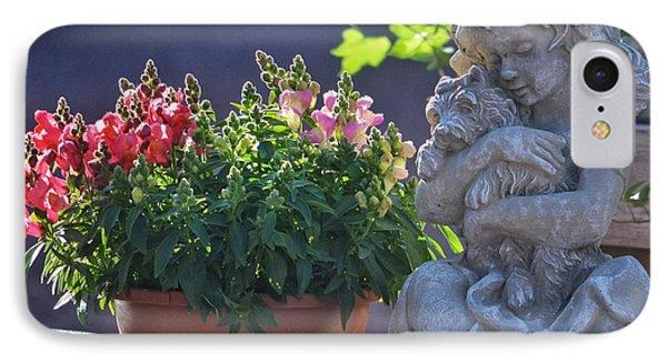 Garden Statue IPhone Case by Penni D'Aulerio