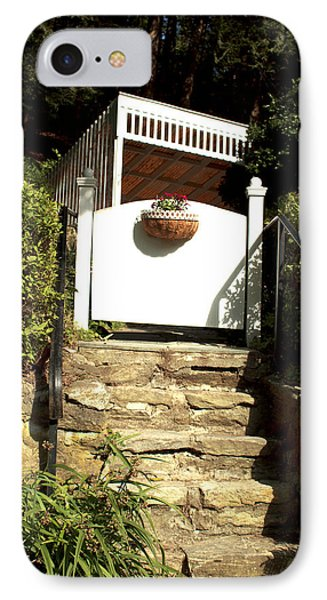 IPhone Case featuring the photograph Garden Steps by Barbara Giordano