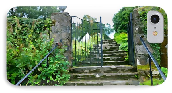 Garden Steps Phone Case by Charlie and Norma Brock