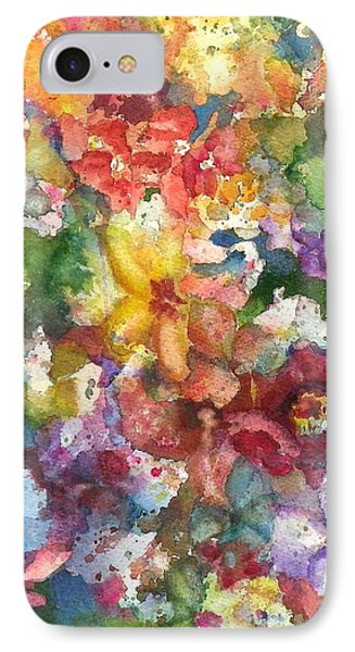 IPhone Case featuring the painting Garden - The Secret Life Of The Leftover Paint by Anna Ruzsan