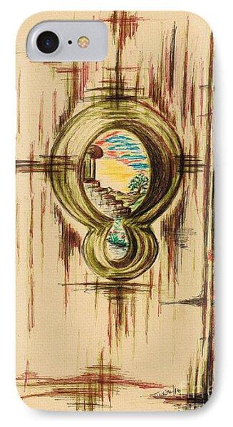 Garden Through The Key Hole IPhone Case by Teresa White