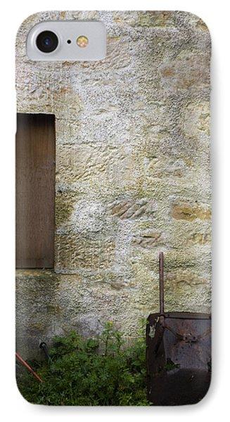 Garden Wall Dornoch Scotland IPhone Case by Sally Ross