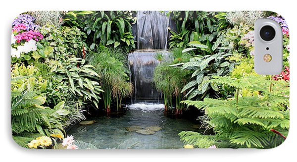Garden Waterfall IPhone Case by Carol Groenen