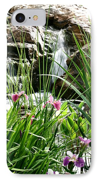 Garden Waterfall IPhone Case by Pattie Calfy