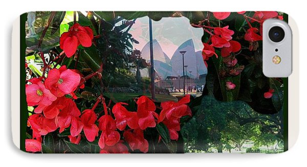 IPhone Case featuring the photograph Garden Whispers In A Green Frame by Leanne Seymour