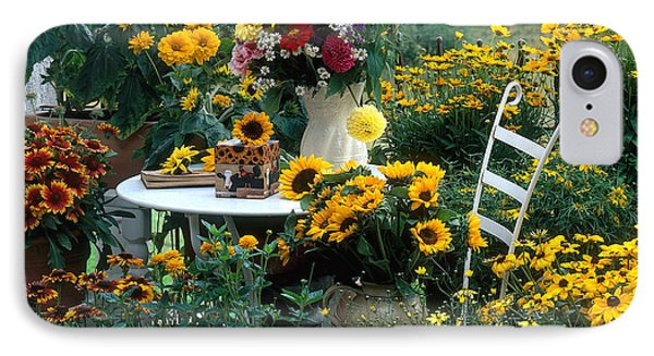 Garden With Table And Chair Phone Case by Hans Reinhard