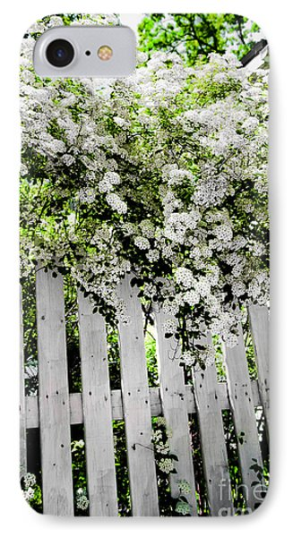 Garden With White Fence IPhone Case by Elena Elisseeva