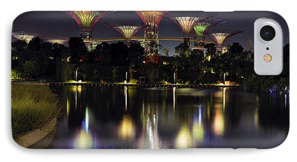 Gardens By The Bay Supertree Grove Phone Case by David Gn