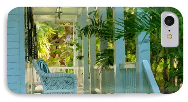 Gardens Porch In Key West IPhone Case by David  Van Hulst