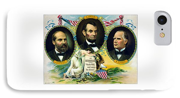Garfield Lincoln And Mckinley In Memoriam IPhone Case by War Is Hell Store