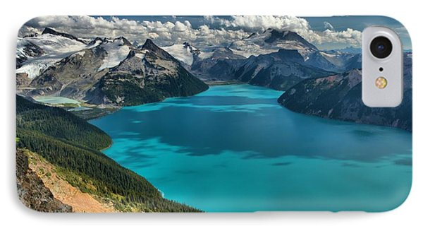Garibaldi Lake Blues Greens And Mountains IPhone Case by Adam Jewell