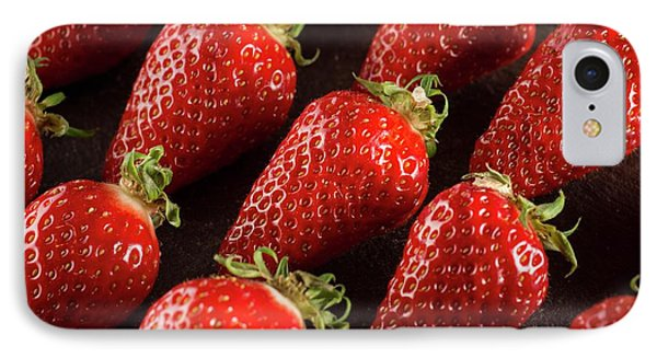 Gariguette Strawberries IPhone 7 Case by Aberration Films Ltd