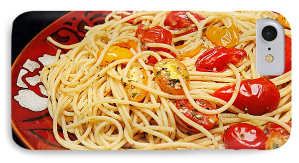 Garlic Pasta And Grape Tomatoes IPhone Case