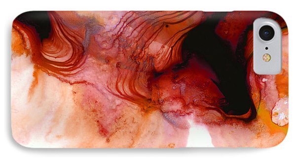 Garnet Sea - Abstract Art By Sharon Cummings IPhone Case by Sharon Cummings