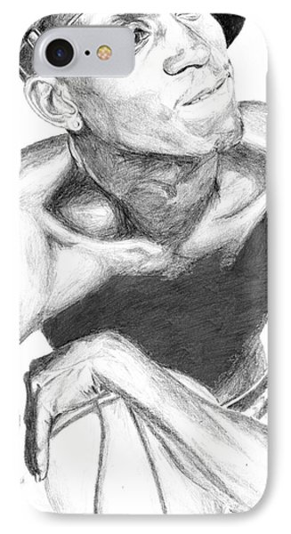 IPhone Case featuring the drawing Garnett 2 by Tamir Barkan