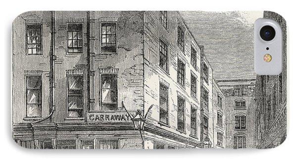 Garraways Coffee House, Change Alley, London IPhone Case