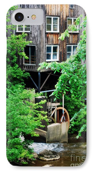 IPhone Case featuring the photograph Garrettsville Mill Water Wheel by Lila Fisher-Wenzel