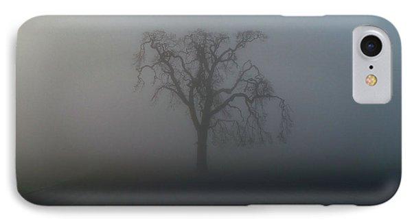 Garry Oak In Fog IPhone Case by Cheryl Hoyle
