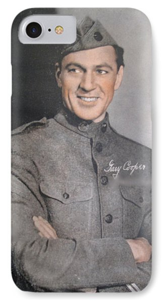 Gary Cooper Repro Phone Case by Barbara McDevitt