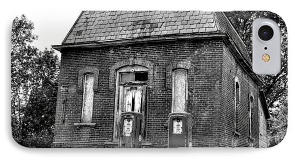 Gas At 41 Cents A Gallon Bw IPhone Case by John Nielsen