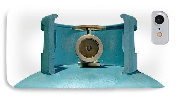 Gas Cylinder Valve Closeup Phone Case by Allan Swart