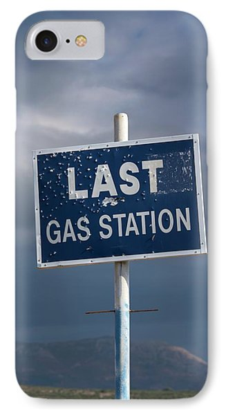 Gas Station Roadsign IPhone Case by David Parker