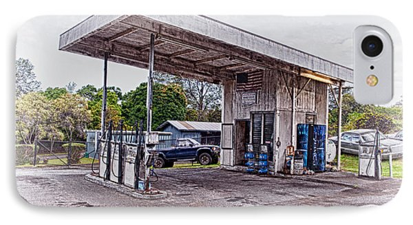 IPhone Case featuring the photograph Gasoline Station by Jim Thompson