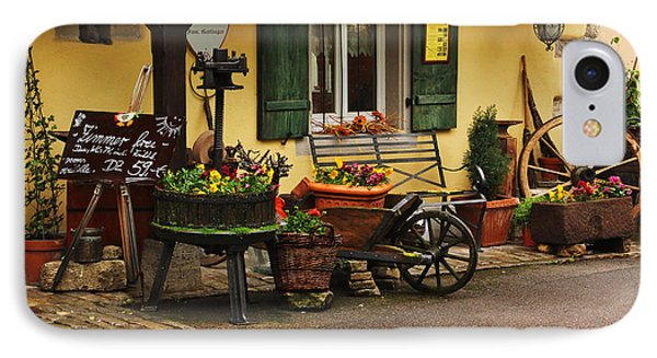 Gast Haus Display In Rothenburg Germany IPhone Case by Greg Matchick