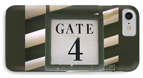 Gate #4 IPhone Case by Joy Hardee