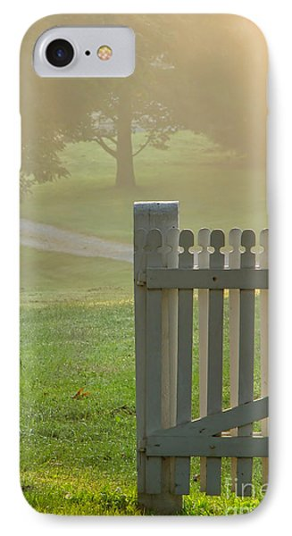 Gate In Morning Fog Phone Case by Olivier Le Queinec