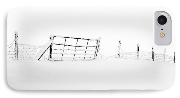 Gate In Snow Phone Case by Anne Gilbert