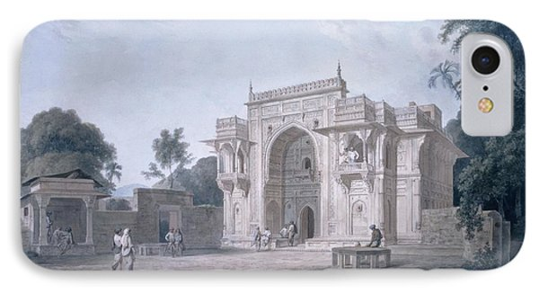 Gate Leading To A Mosque, Chunargarh IPhone Case by Thomas & William Daniell