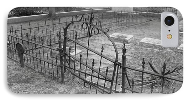 Gated Community In Black And White IPhone Case by Suzanne Gaff