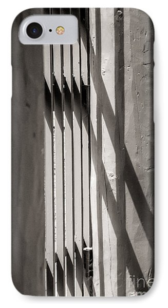 IPhone Case featuring the photograph Gated Shadows by Sherry Davis