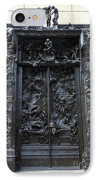Gates Of Hell 1880 1900 Auguste Rodin IPhone Case by Jason O Watson
