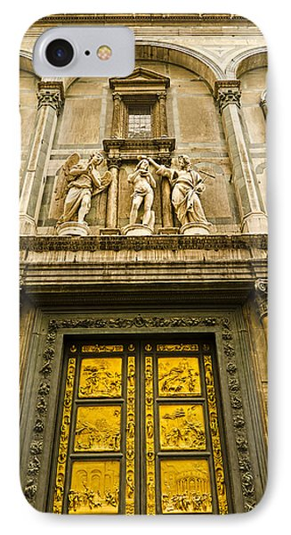 Gates Of Paradise - Florence Italy IPhone Case by Jon Berghoff