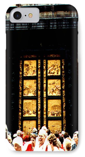 Gates Of Paradise The Baptistry Florence Italy IPhone Case by Merton Allen
