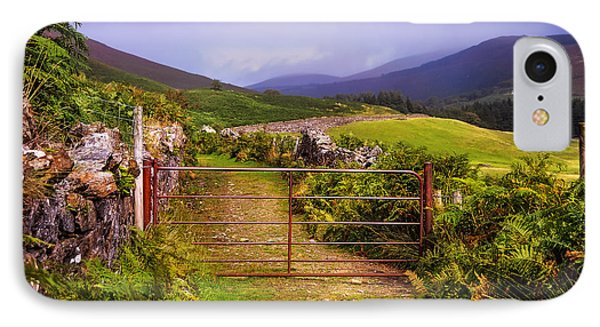 Gates On The Road. Wicklow Hills. Ireland IPhone Case by Jenny Rainbow