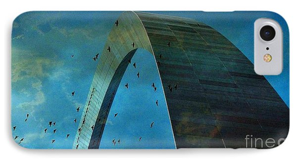 Gateway Arch With Birds Phone Case by Janette Boyd
