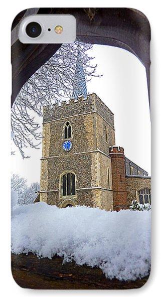 Gateway To Heaven - Church Viewed Through The Gate IPhone Case by Gill Billington