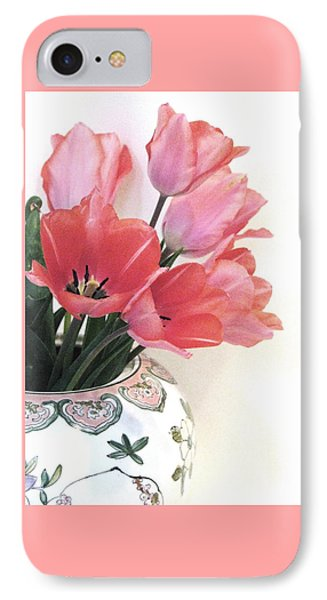 Gathered Tulips IPhone Case by Angela Davies