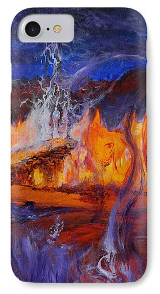 IPhone Case featuring the painting Gathering At Samhain's Bluff by Christophe Ennis