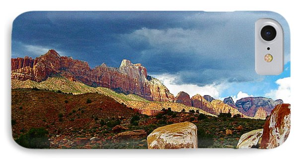 Gathering Clouds In Zion IPhone Case