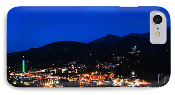 Gatlinburg Skyline At Night Phone Case by Nancy Mueller