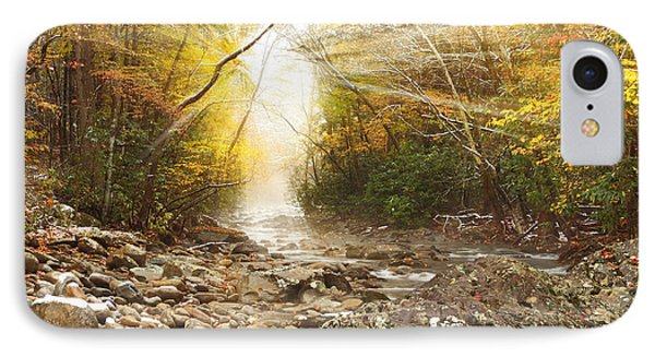 Gatlinburg Trail In Snow IPhone Case by Coby Cooper