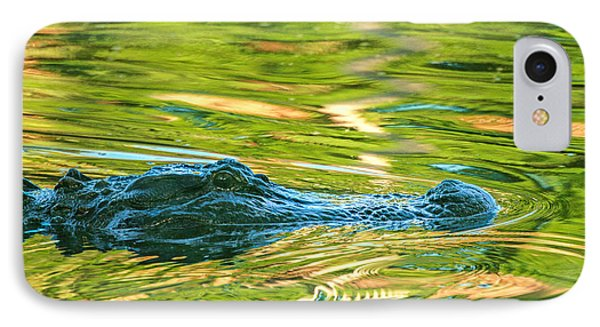 IPhone Case featuring the photograph Gator In Pond by Patricia Schaefer