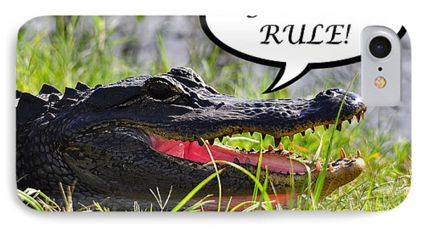 Gators Rule Greeting Card IPhone Case by Al Powell Photography USA