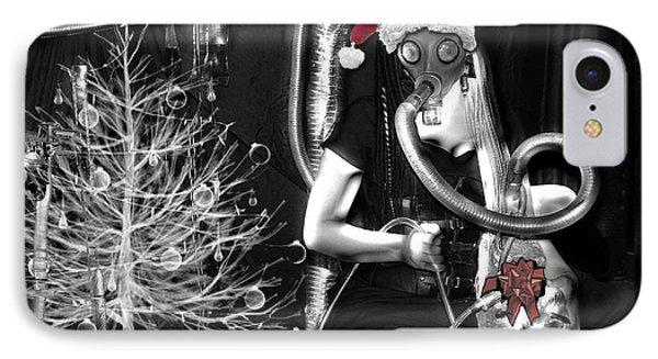 Partage Le Masque A Gaz De Lapin 19 X Mas Version IPhone Case by Tarey Potter