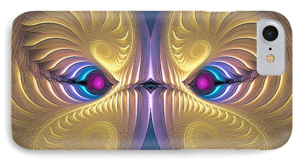 Gaze - Surrealism IPhone Case by Sipo Liimatainen